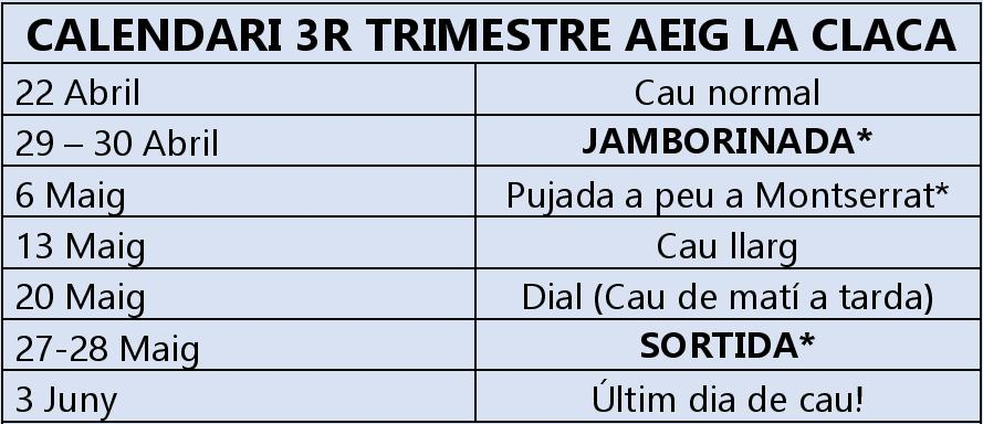 calendari 3r trim rigns